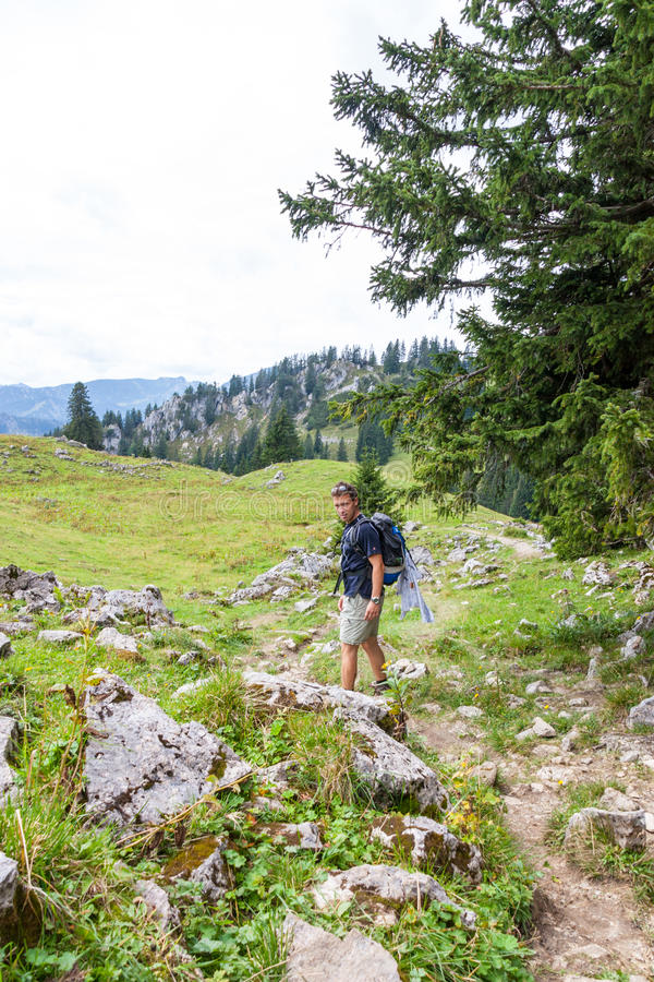 Hiking in Bavaria royalty free stock images