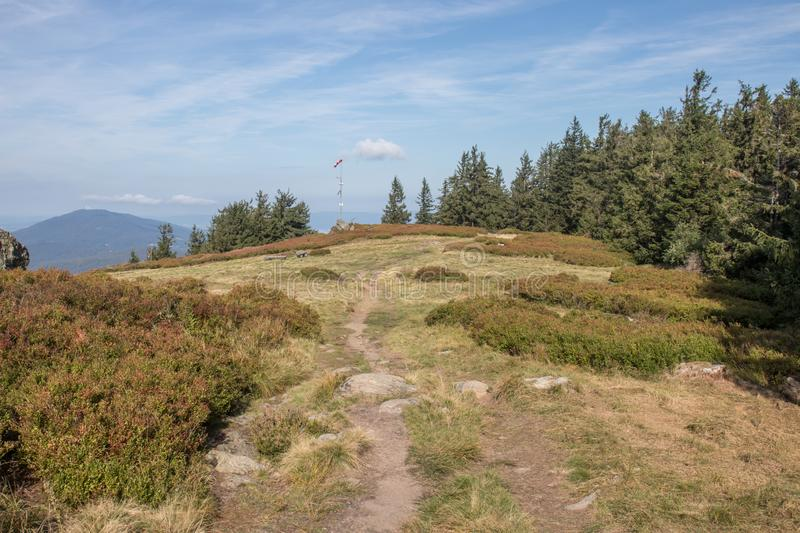 Hiking in the bavarian mountains stock photos