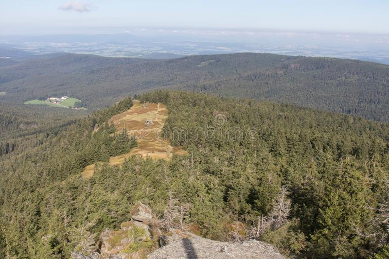Hiking in the bavarian mountains royalty free stock images