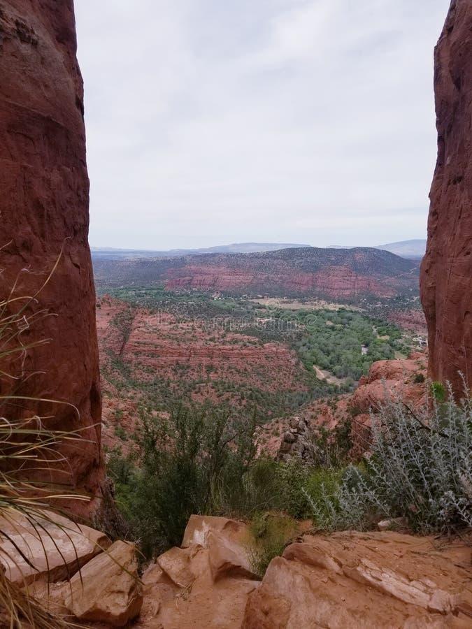 Hiking in a beautiful Sedona Arizona USA royalty free stock photo