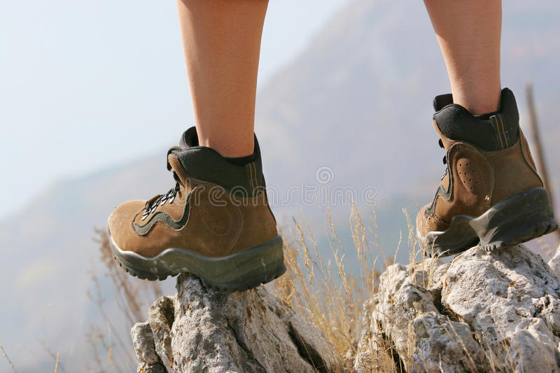 Hiking boot stock images