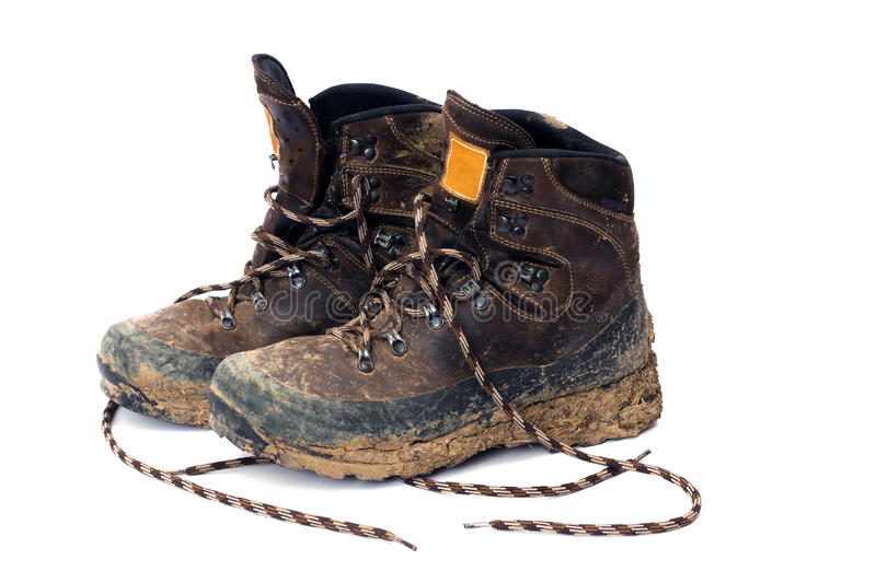 Hiking boots royalty free stock photos