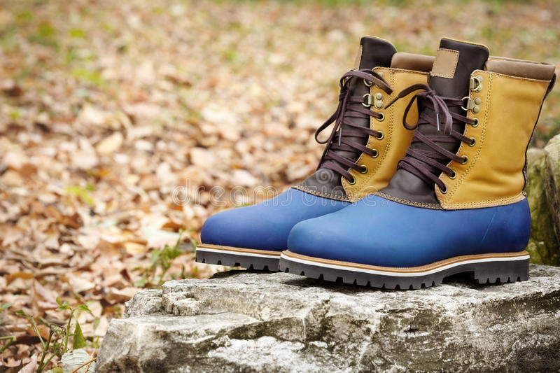 Download Hiking Boots stock photo. Image of stone, footwear, brown - 25860394