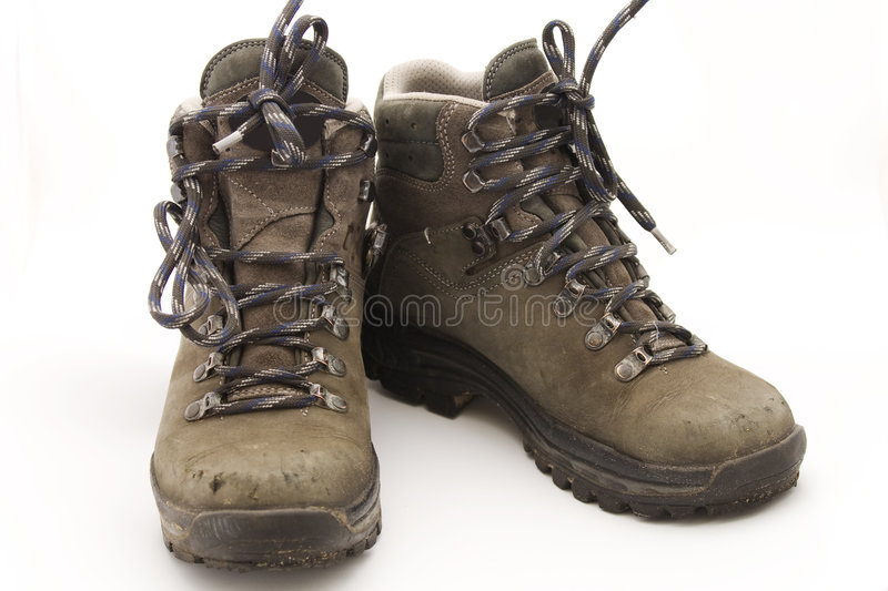 Download Hiking boots stock image. Image of sturdy, tired, dirty - 5374079