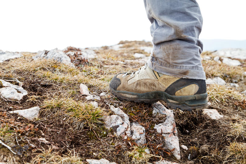 Hiking boots. Choose the right hiking boots to your adventure stock photo