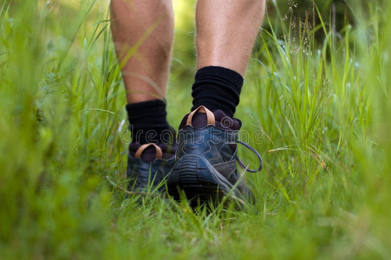 Download Hiking Boots In An Outdoor Action Stock Image - Image: 26844719