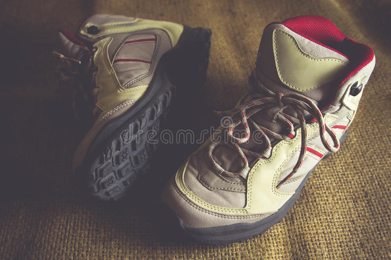 Hiking boots, Vintage stock photography