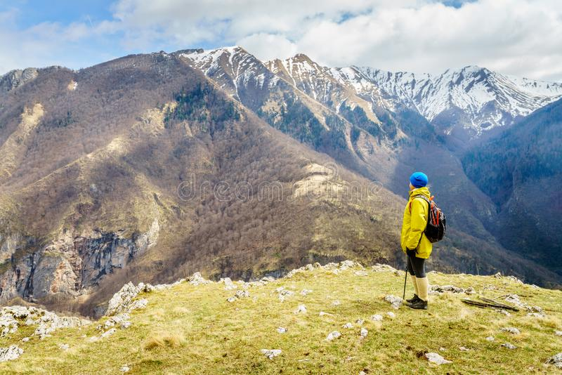 Hiking in Bosnian mountains royalty free stock images