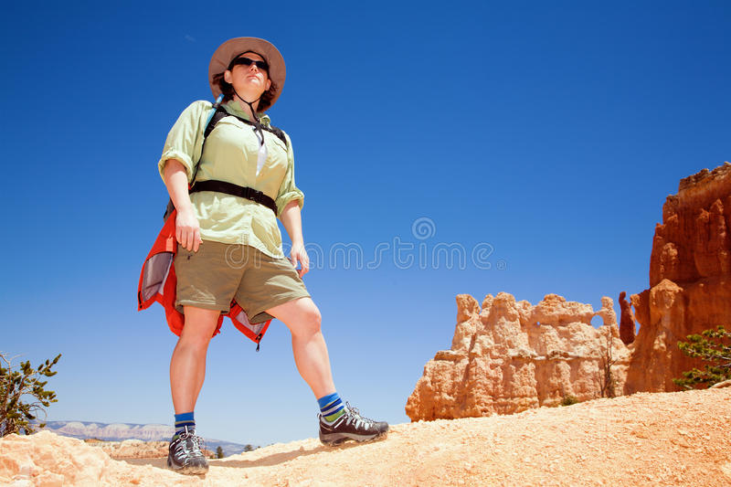Download Hiking in Bryce Canyon stock image. Image of erosion - 15608169