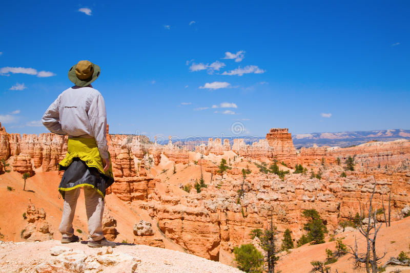 Download Hiking in Bryce Canyon stock photo. Image of famous, landmark - 15919090