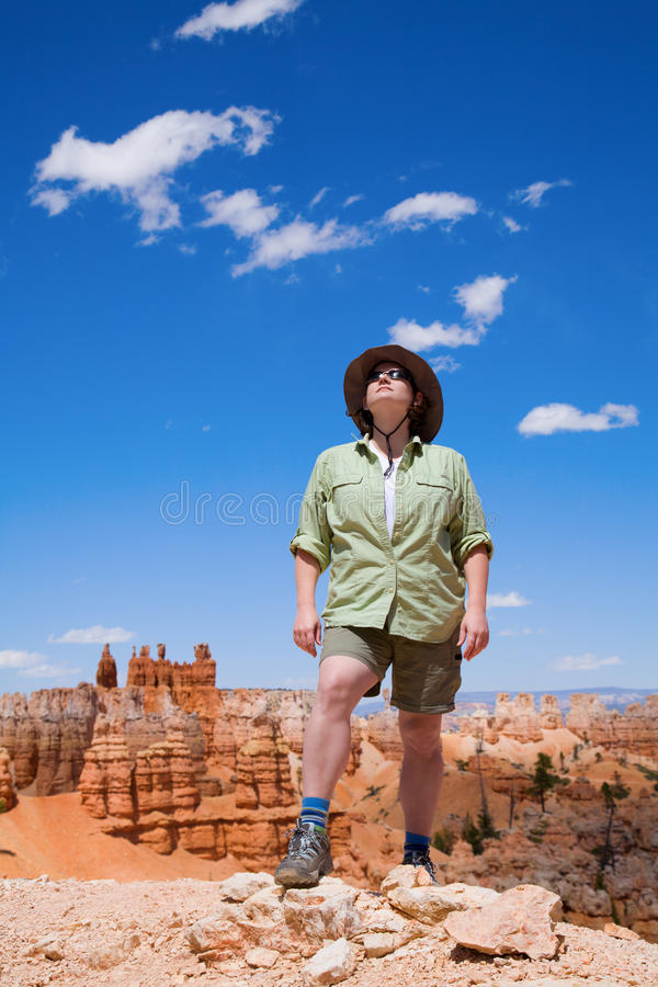 Download Hiking in Bryce Canyon stock photo. Image of desert, formations - 16439100