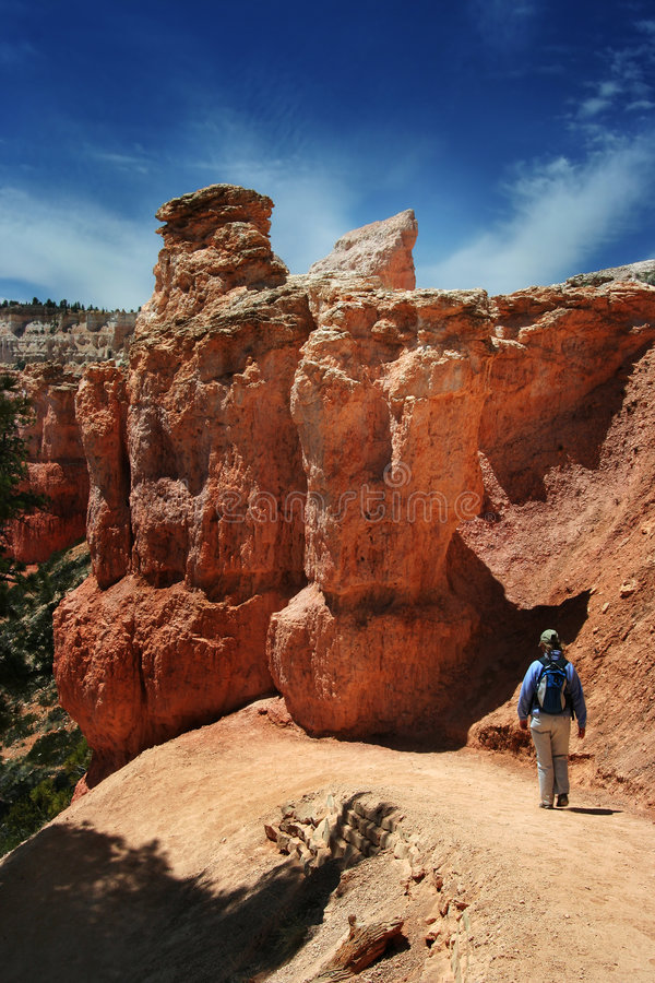 Hiking in Bryce Canyon stock image