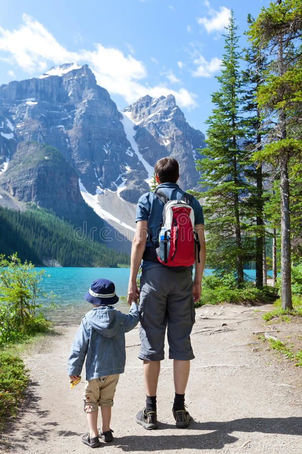 Hiking in canada royalty free stock photos