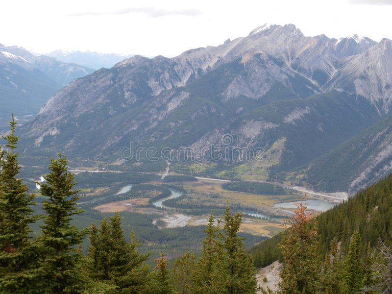 Hiking canada stock image