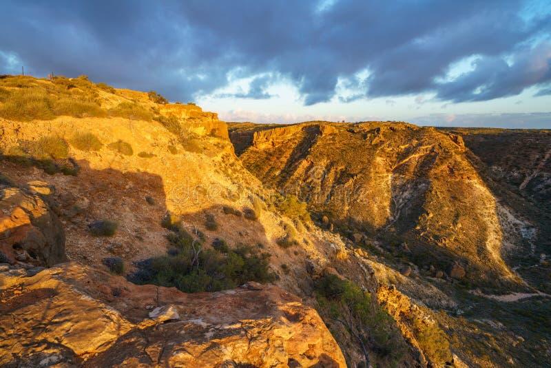 Hiking at charles knife canyon, western australia 1 royalty free stock image