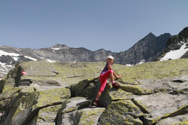 Download Hiking Child Climbing In The Alps Stock Image - Image: 32796915