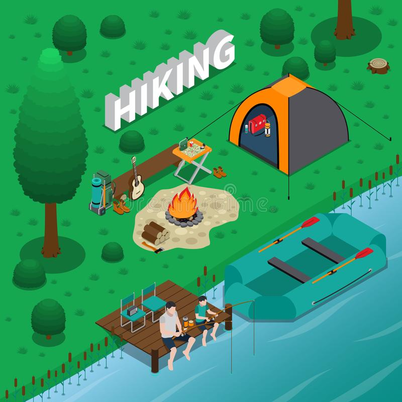 Hiking Concept Illustration vector illustration