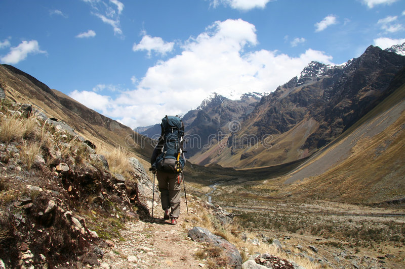 Download Hiking in the Cordilleras stock photo. Image of backpacking - 1419710