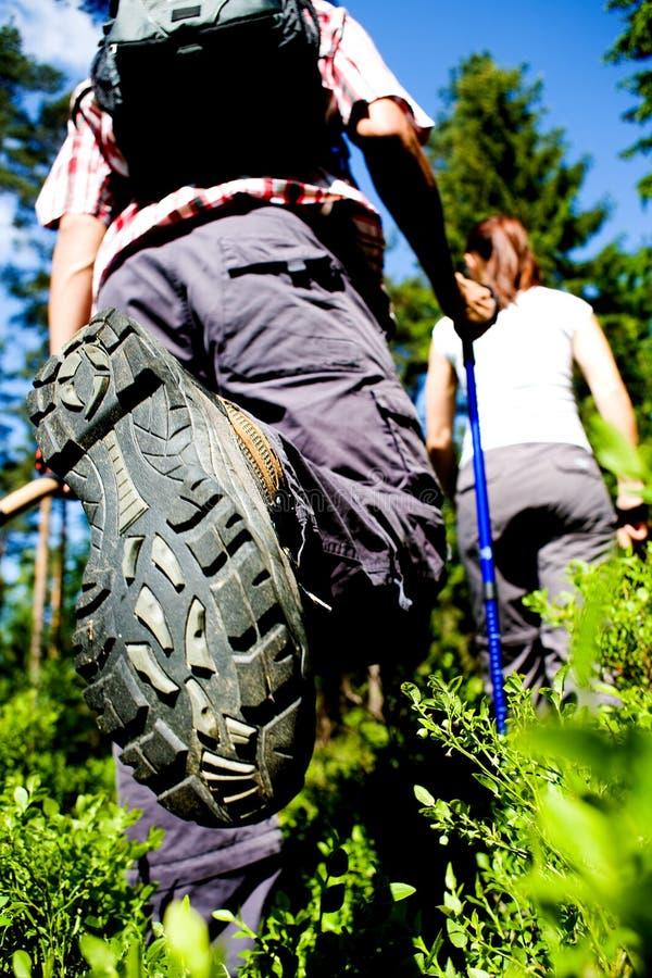 Hiking couple royalty free stock photos