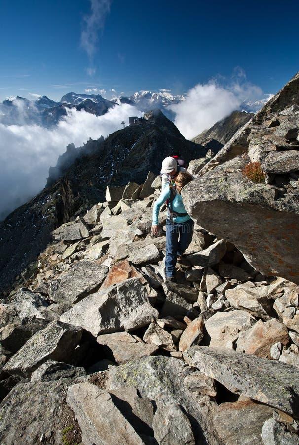 hiking eggishorn стоковые фотографии rf
