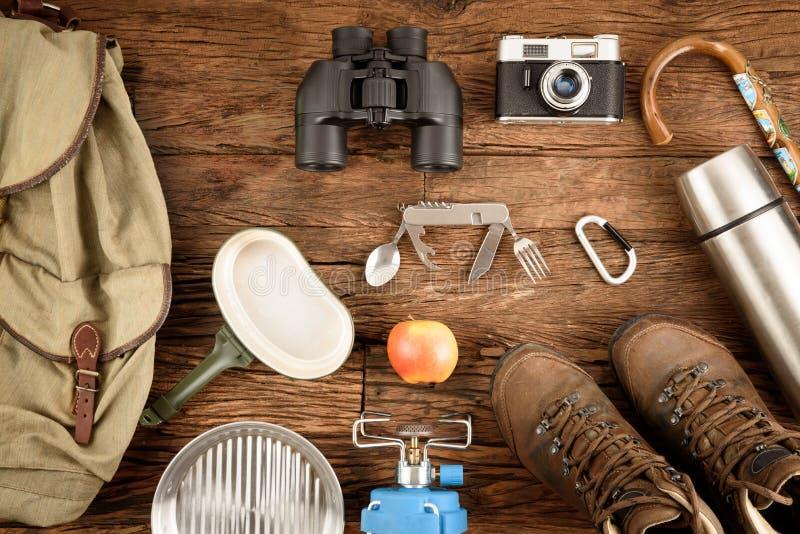 Hiking equipment royalty free stock image