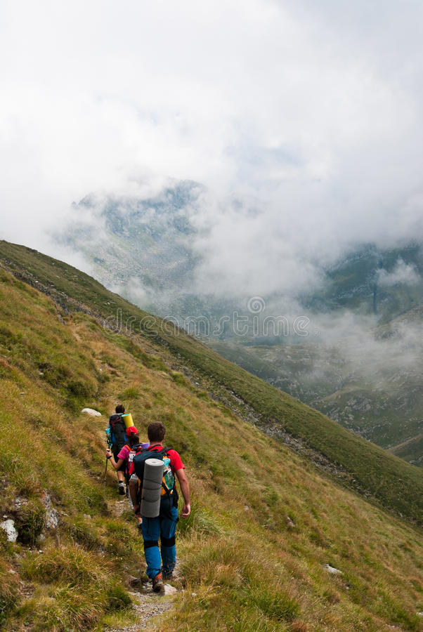 Hiking in Fagaras mountains royalty free stock images