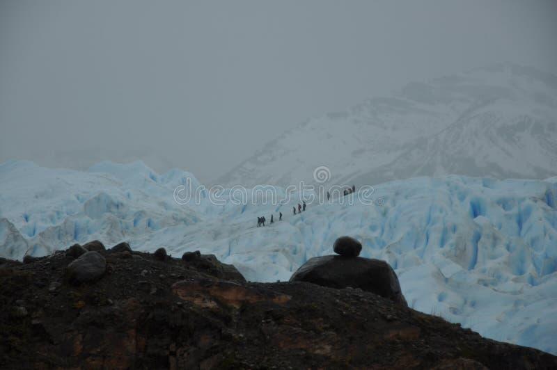 Hiking Glacier Moreno Stock Photo