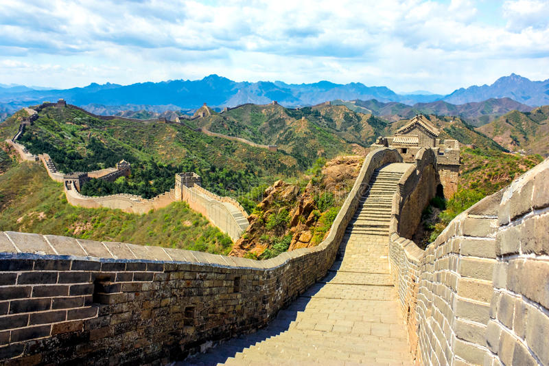 Hiking the Great Wall. The Great Wall of China is a series of fortifications made of stone, brick, tamped earth, wood, and other materials, generally built along stock photos