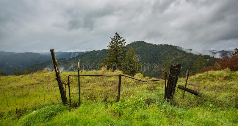 Ever been to a high mountain pasture in a storm. royalty free stock photo