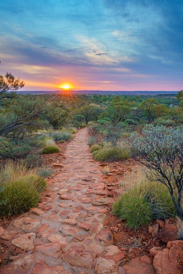 Hiking kings canyon at sunset, watarrka national park, northern territory, australia 39. Hiking kings canyon at romantic sunset, watarrka national park, northern stock photos