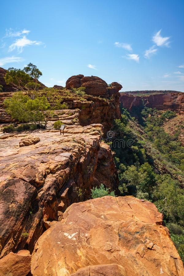 Hiking in kings canyon in the sun, watarrka national park, northern territory, australia 12. Hiking in kings canyon on a sunny day, watarrka national park royalty free stock photos