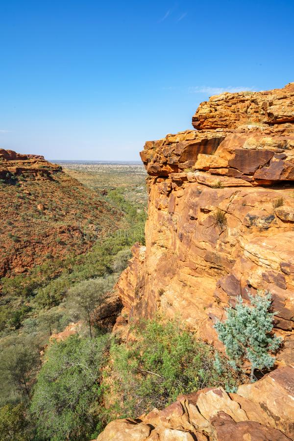 Hiking in kings canyon in the sun, watarrka national park, northern territory, australia 13. Hiking in kings canyon on a sunny day, watarrka national park royalty free stock photo