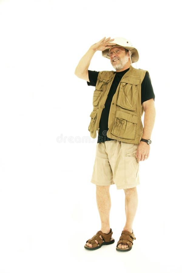 Hiking Man stock photo