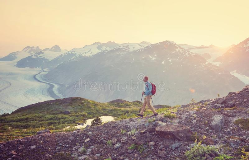 Hike in Canada royalty free stock image