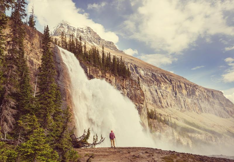 Hike in Canada stock images