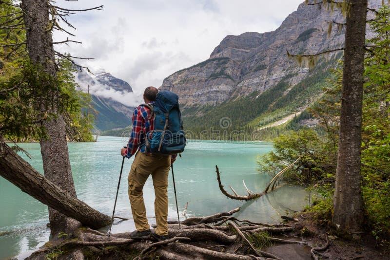 Hike in Canada stock photo