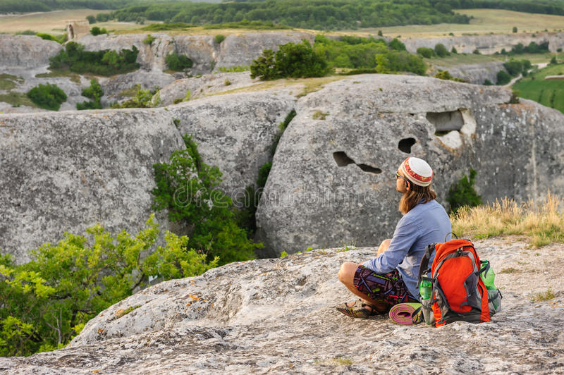 Download Hiking man having rest stock photo. Image of people, hiking - 35652492