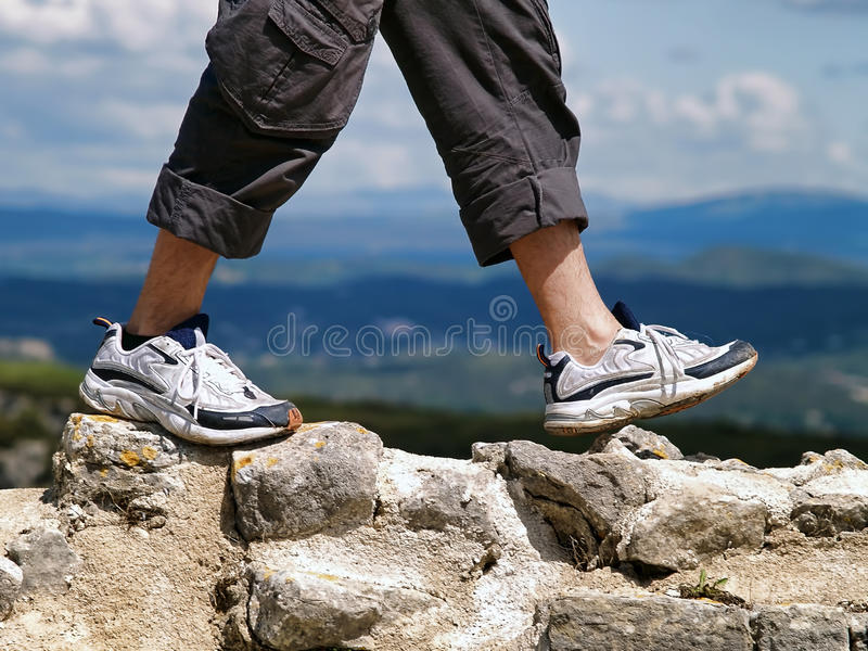 Download Hiking stock photo. Image of hiking, male, human, backpacker - 42748012