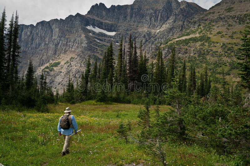 Hiking in the Mountains royalty free stock images