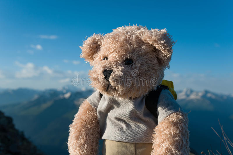 Hiking in the mountains stock photos