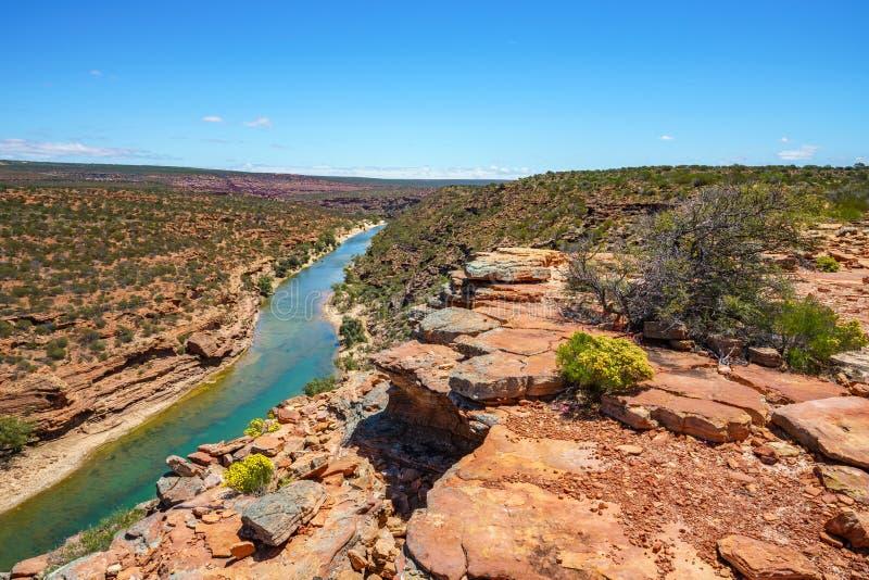 Hiking natures window loop trail, kalbarri national park, western australia 8 stock photography
