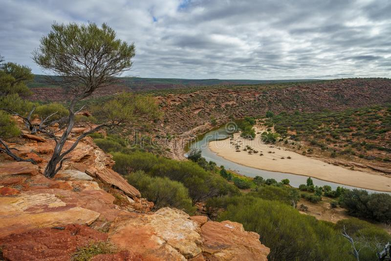 Hiking natures window loop trail, kalbarri national park, western australia 6 royalty free stock photos
