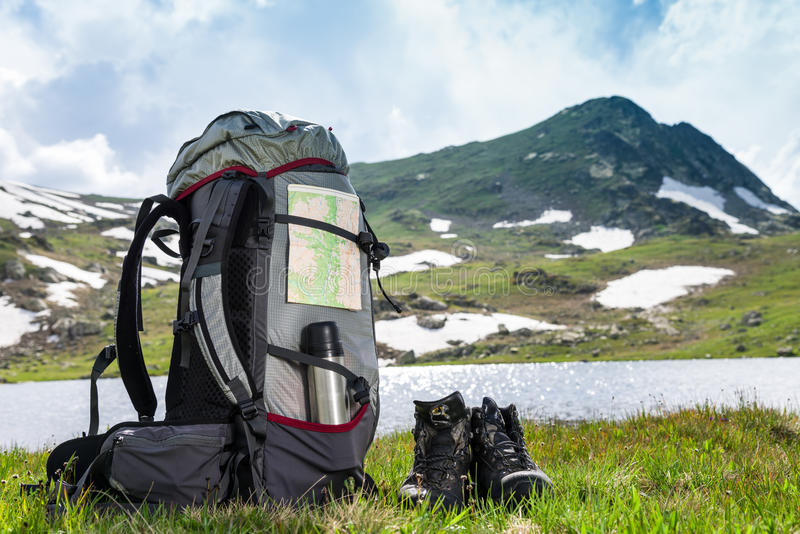 Hiking outdoors royalty free stock image