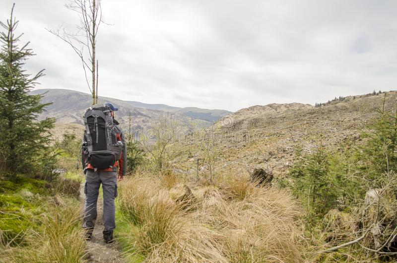 Hiking in the Outdoors royalty free stock photo
