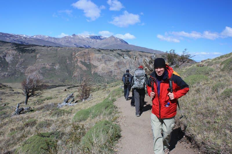 Hiking patagonia royalty free stock photography