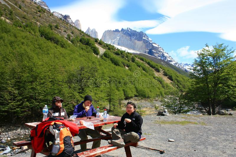 Hiking Patagonia stock image