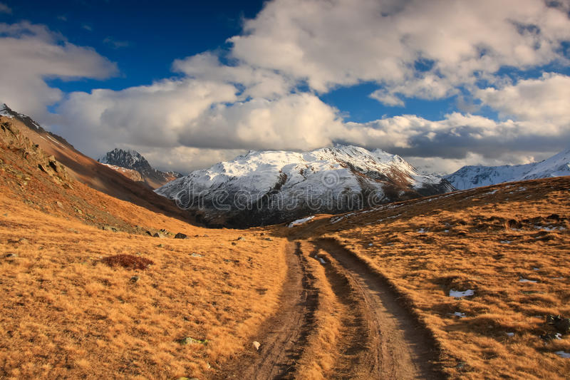 Download Hiking path in mountains stock photo. Image of alpine - 22343538