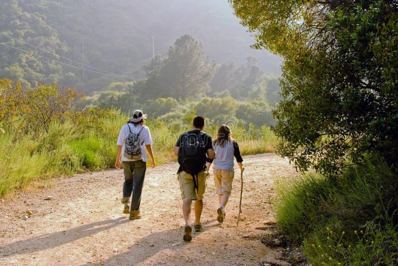 Hiking Scene Stock Photo