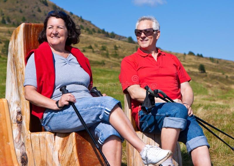 Hiking seniors 22 royalty free stock images