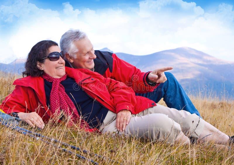 Hiking seniors 23 royalty free stock images